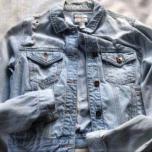 Forever 21 light wash distressed jean jacket